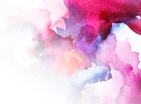 Pink Color「Watercolour」:スマホ壁紙(6)