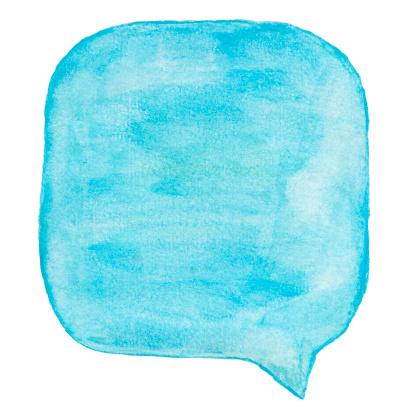マンガ「Watercolour ライトブルーの吹き出し」:スマホ壁紙(8)