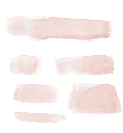Watercolor Painting「Watercolour Pink Painted Buttons / Lines」:スマホ壁紙(18)
