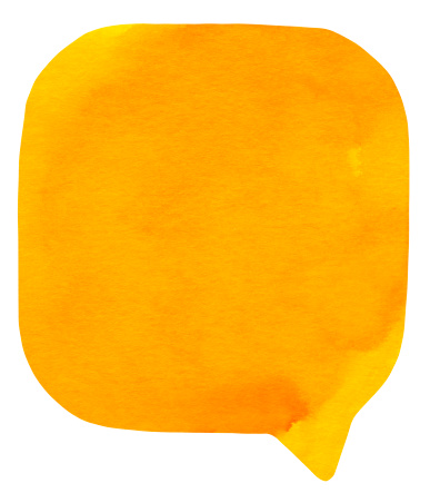 マンガ「Watercolour 明るいオレンジの吹き出し」:スマホ壁紙(16)