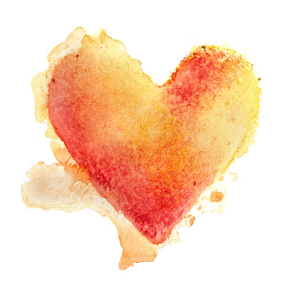 Illustration「Watercolour Painted Textured Heart」:スマホ壁紙(9)