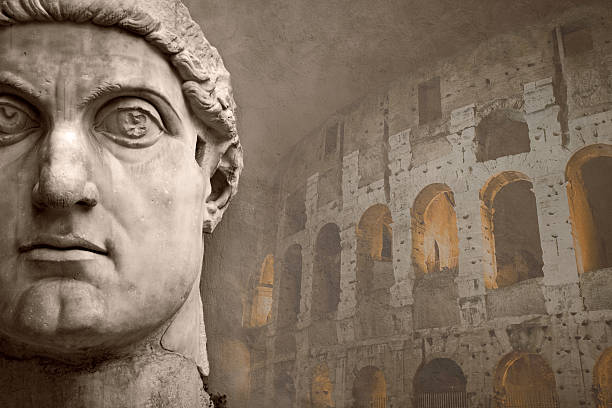 Face of the Emperor Constantine and Coliseum:スマホ壁紙(壁紙.com)