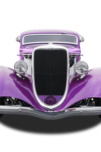 Hot Rod Car「Auto Car - 1934 Ford Hot Rod Front Purple」:スマホ壁紙(12)