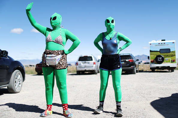 "Geographical Locations「Revellers Descend On Nevada Desert For ""Storm Area 51"" Gathering」:写真・画像(6)[壁紙.com]"