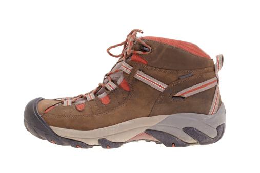 Hiking「Hiking boot side view on white」:スマホ壁紙(13)