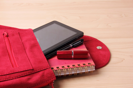 Clutch Bag「Digital Tablet in  Woman's Bag Backpack」:スマホ壁紙(3)