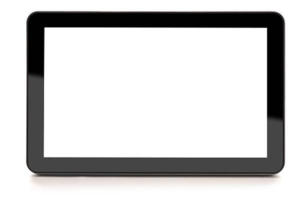 Digital Tablet isolated on white:スマホ壁紙(壁紙.com)