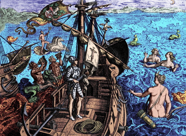 Journey「Columbus on his voyage to America, engraving.」:写真・画像(16)[壁紙.com]