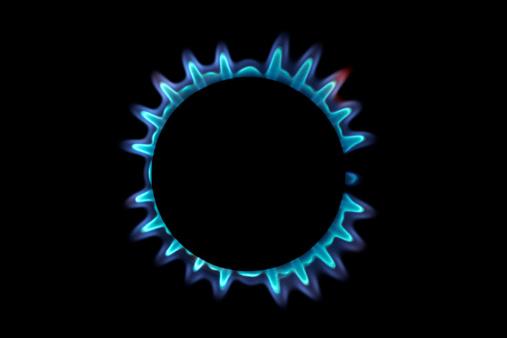 Flame「Lit blue gas ring, close-up」:スマホ壁紙(6)
