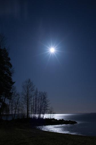 星空「星空の下での夜の風景」:スマホ壁紙(18)
