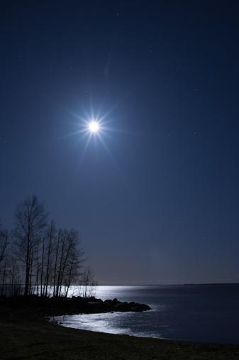 星空「星空の下での夜の風景」:スマホ壁紙(16)