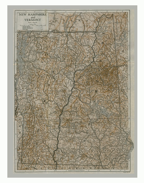 Full Frame「Map Of New Hampshire And Vermont」:写真・画像(3)[壁紙.com]