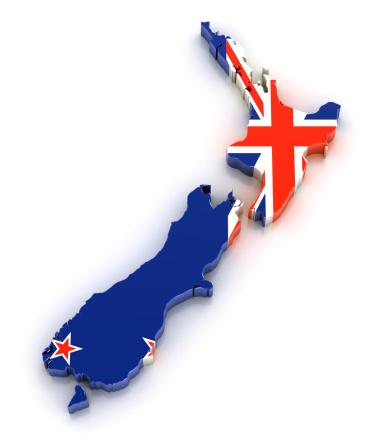New Zealand「Map of New Zealand with flag overlaid」:スマホ壁紙(8)