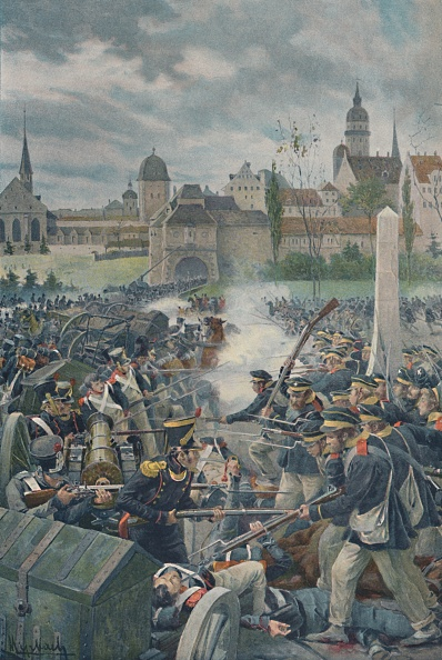 Leipzig - Saxony「The French Army Leaving Leipsic」:写真・画像(1)[壁紙.com]