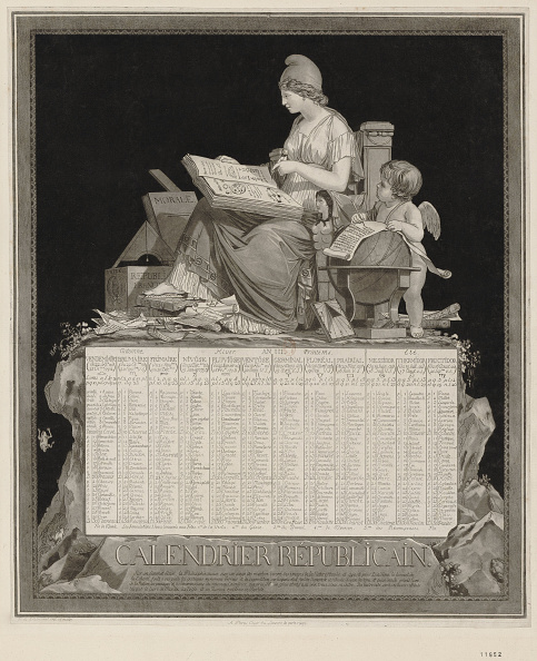 Calendar「The French Republican Calendar Calendrier Republicain Francais」:写真・画像(4)[壁紙.com]