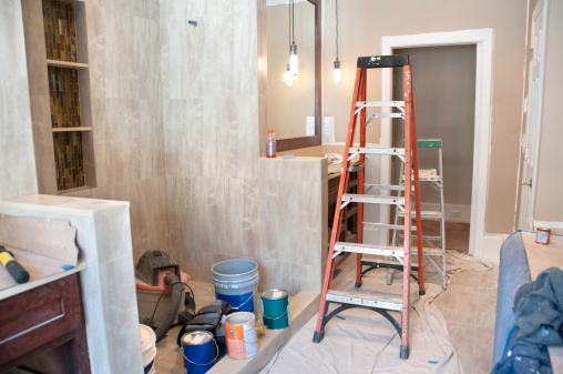 Home Addition「Master bathroom in midst of remodeling」:スマホ壁紙(17)