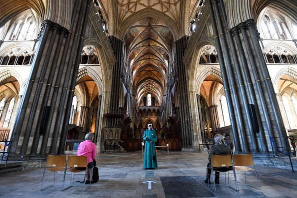 Salisbury - England「UK Churches Reopen For Private Prayer As Coronavirus Lockdown Eases Further」:写真・画像(2)[壁紙.com]