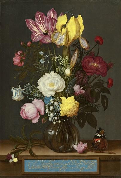 Bouquet「Bouquet Of Flowers In A Glass Vase」:写真・画像(1)[壁紙.com]