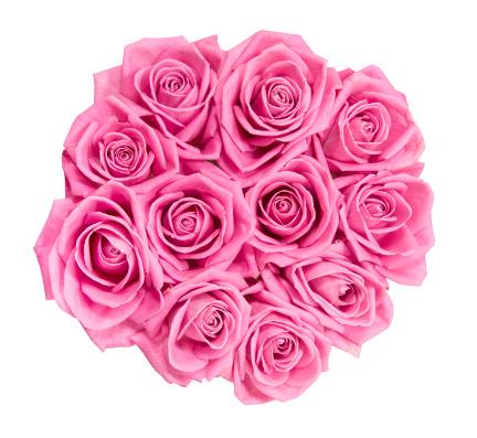 バラ「ピンクのバラのブーケ」:スマホ壁紙(3)