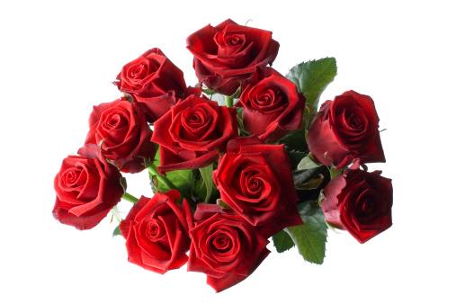 薔薇「赤いバラのブーケ」:スマホ壁紙(19)