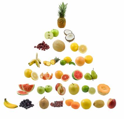 スイカ「フルーツのピラミッド」:スマホ壁紙(1)