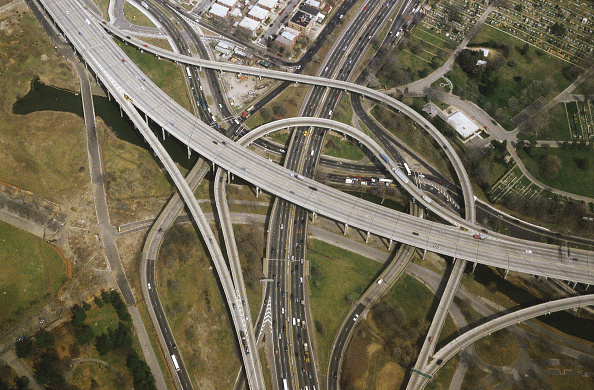 Bridge - Built Structure「Aerial - highways - state of New York - USA」:写真・画像(13)[壁紙.com]
