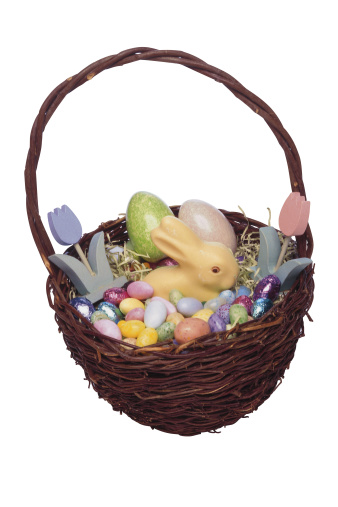 Easter Basket「Easter basket filled with an assortment of candy」:スマホ壁紙(16)