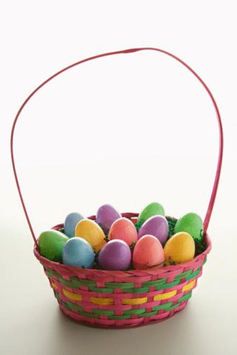 Easter Basket「Easter basket with eggs」:スマホ壁紙(3)