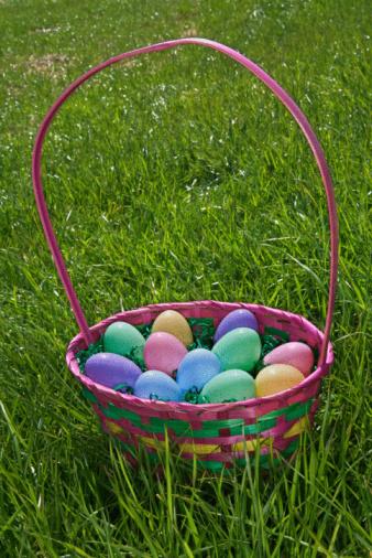 Easter Basket「Easter basket on lawn」:スマホ壁紙(15)
