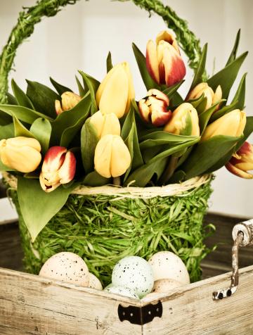 Easter Basket「Easter Basket and Eggs」:スマホ壁紙(6)