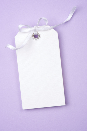 Place Card「White Gift Tag w Ribbon on Lilac」:スマホ壁紙(9)