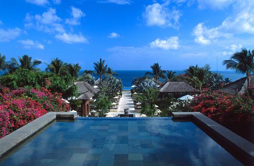 プール「Ocean view from infinity pool, Bali, Indonesia」:スマホ壁紙(5)