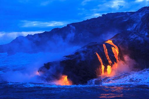 Active Volcano「Ocean View of Lava」:スマホ壁紙(7)
