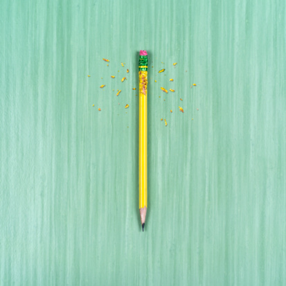 Green Background「chewed up pencil on table surface」:スマホ壁紙(16)