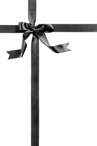 Silk「Black gift bow」:スマホ壁紙(18)