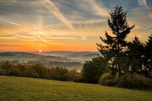 紅葉「Eifel at sunrise」:スマホ壁紙(18)