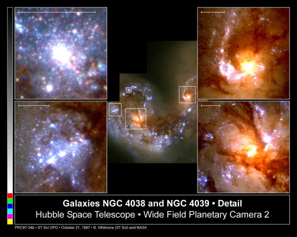 Hubble Space Telescope「Head On Collision Between Two Spiral Galaxies」:写真・画像(4)[壁紙.com]