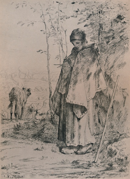 Etching「The Shepherdess 1862」:写真・画像(16)[壁紙.com]