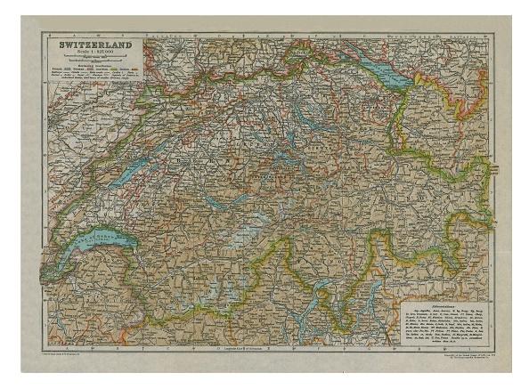 Full Frame「Map Of Switzerland Artist: Unknown」:写真・画像(6)[壁紙.com]