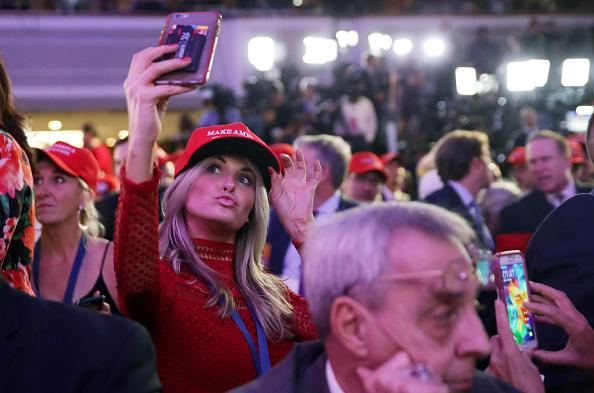 ミッドタウンマンハッタン「Republican Presidential Nominee Donald Trump Holds Election Night Event In New York City」:写真・画像(7)[壁紙.com]