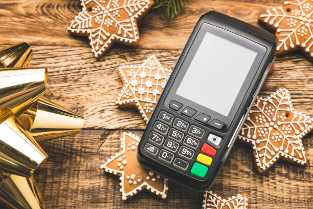 Contactless payment for Christmas shopping:スマホ壁紙(壁紙.com)