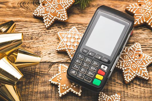 Credit Card Purchase「Contactless payment for Christmas shopping」:スマホ壁紙(15)