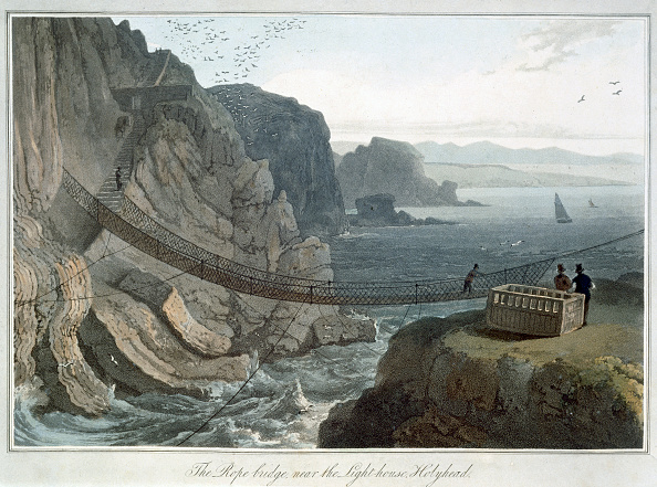 1820-1829「The Rope Bridge Near The Lighthouse Holyhead' Anglesey Wales 1829」:写真・画像(19)[壁紙.com]