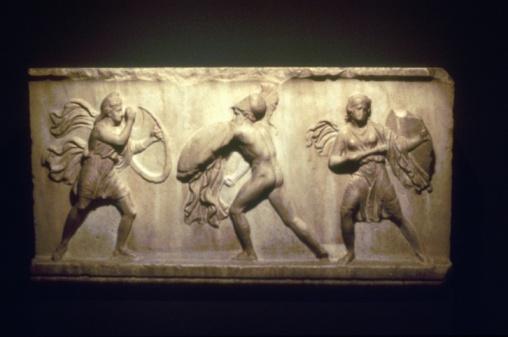 Battle「Artifact depicting Greek warriors battling Amazons」:スマホ壁紙(2)