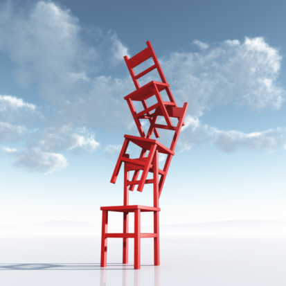 Cumulus Cloud「A chaotic Stack or Pile of Red Chairs」:スマホ壁紙(6)