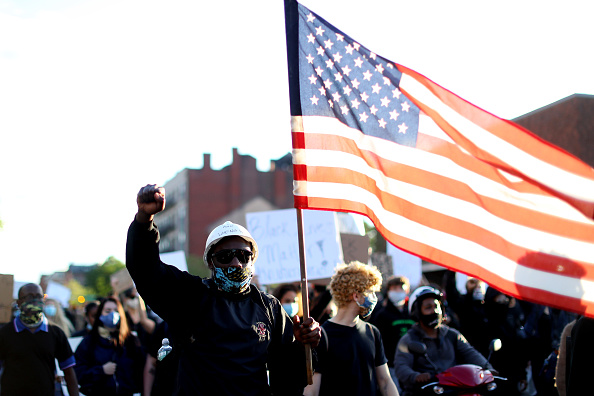 Boston - Massachusetts「Protest Held In Boston Against Police Brutality In Death Of George Floyd」:写真・画像(14)[壁紙.com]