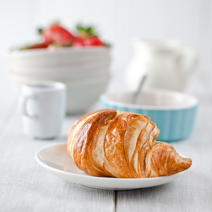 Soft Focus「Continental breakfast with coffee and croissant」:スマホ壁紙(15)