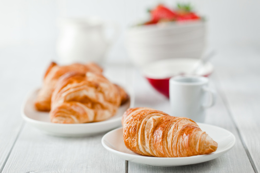 Croissant「Continental breakfast with coffee and croissant」:スマホ壁紙(11)
