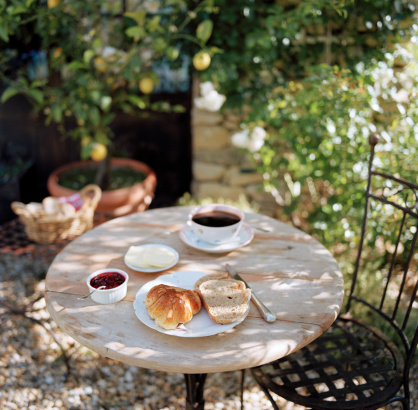 France「Continental Breakfast on a table」:スマホ壁紙(6)