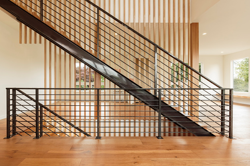 Durability「Horizontal view of Modern Home Interior Staircase」:スマホ壁紙(13)